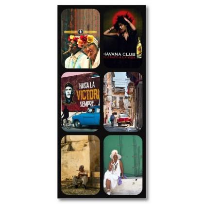 Αφίσα (collage, Κούβα, ρετρό, πόλη)
